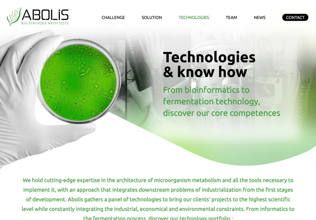 site internet grav cms, page technologies