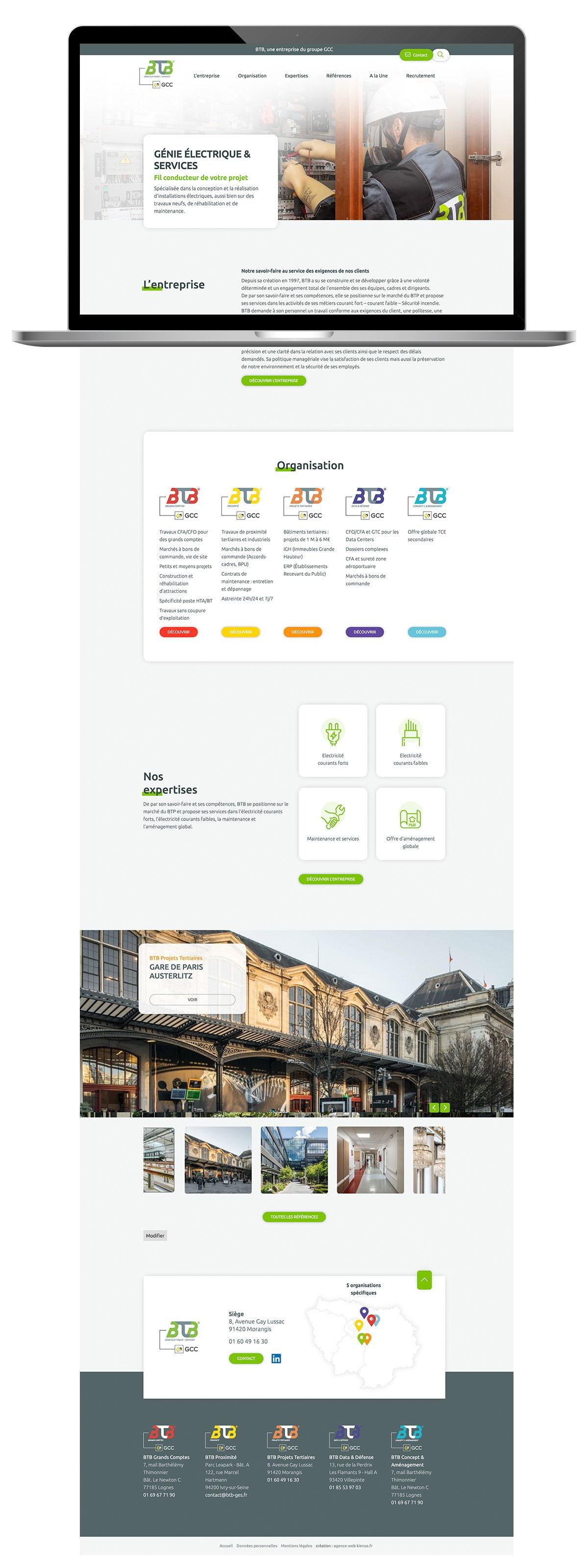 Création de site Internet WordPress - page d'accueil