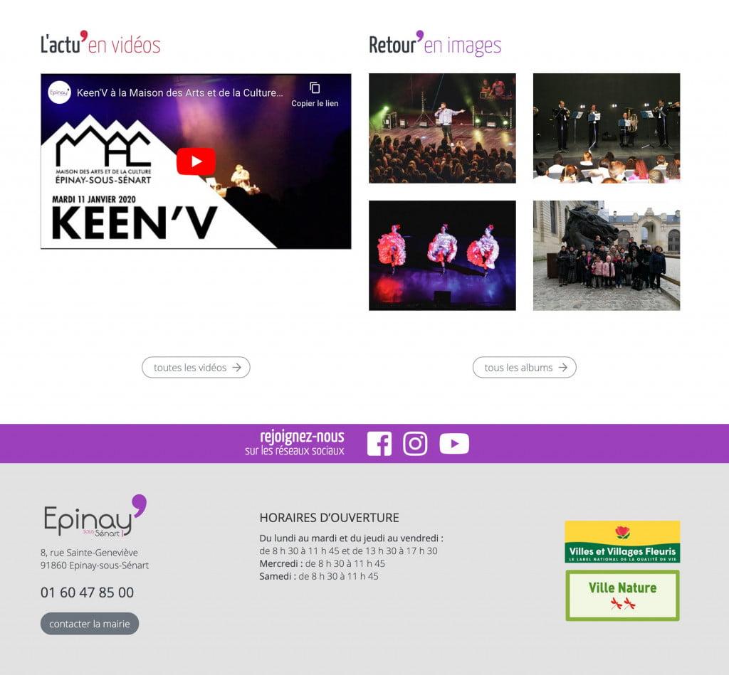 site internet de collectivité media