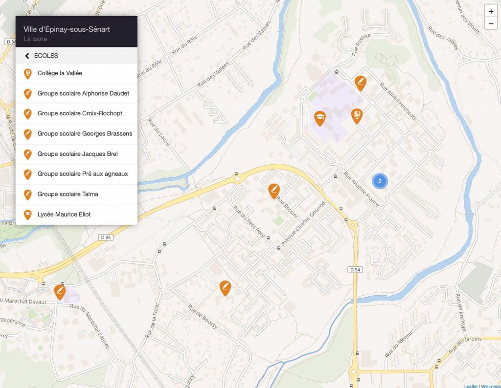 site internet de collectivité carte