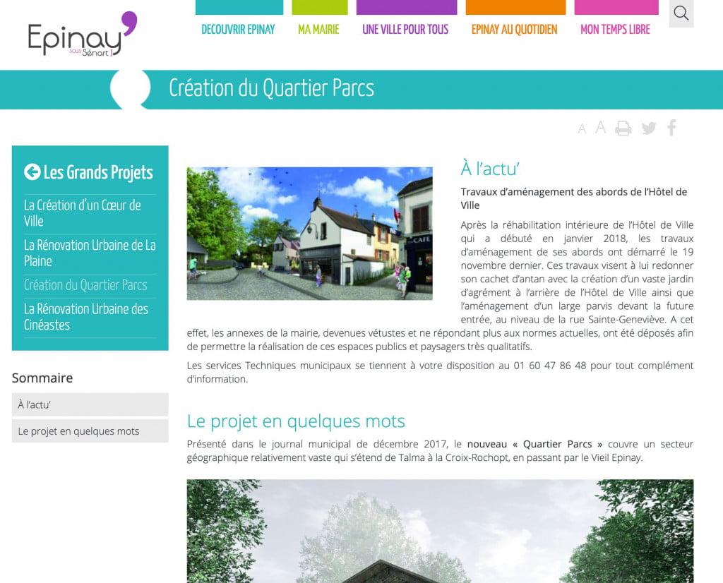 site internet de collectivité projet