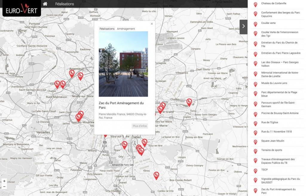 site Internet avec espace client - carte