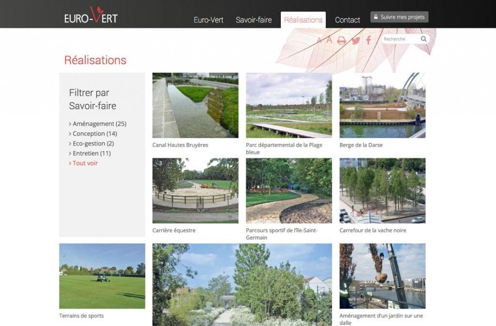 site Internet avec espace client - réalisations
