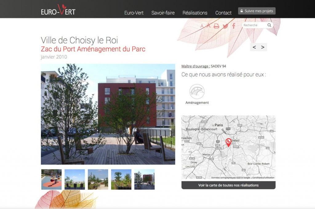 site Internet avec espace client - réalisation