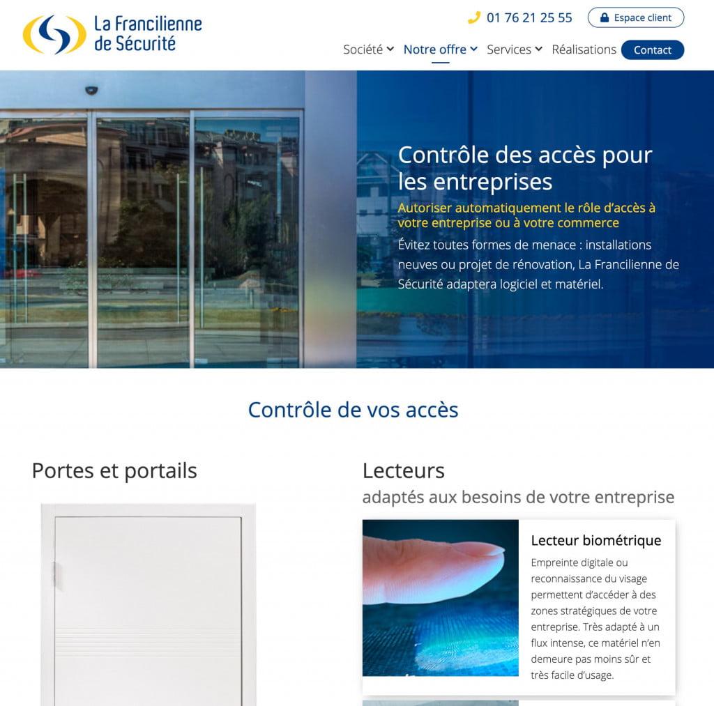 site internet entreprise - acces