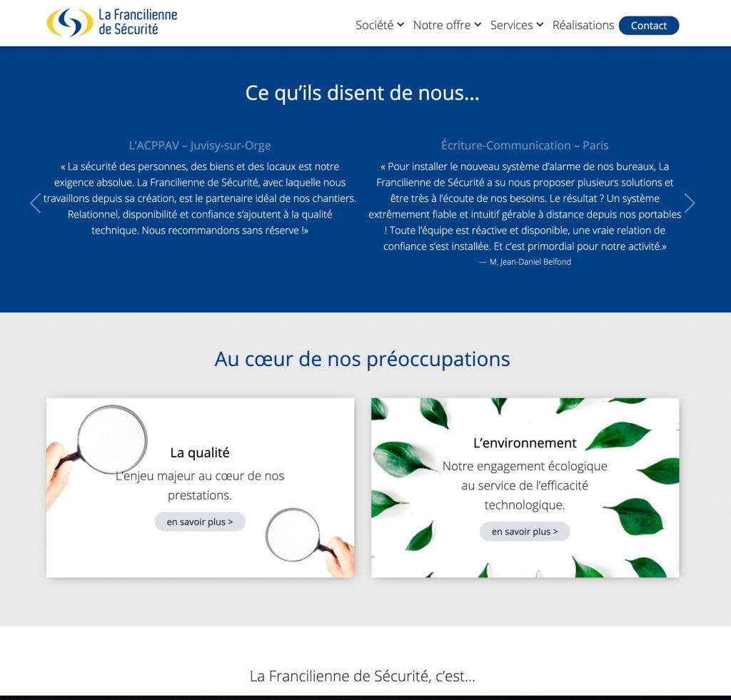 site internet entreprise - qualite