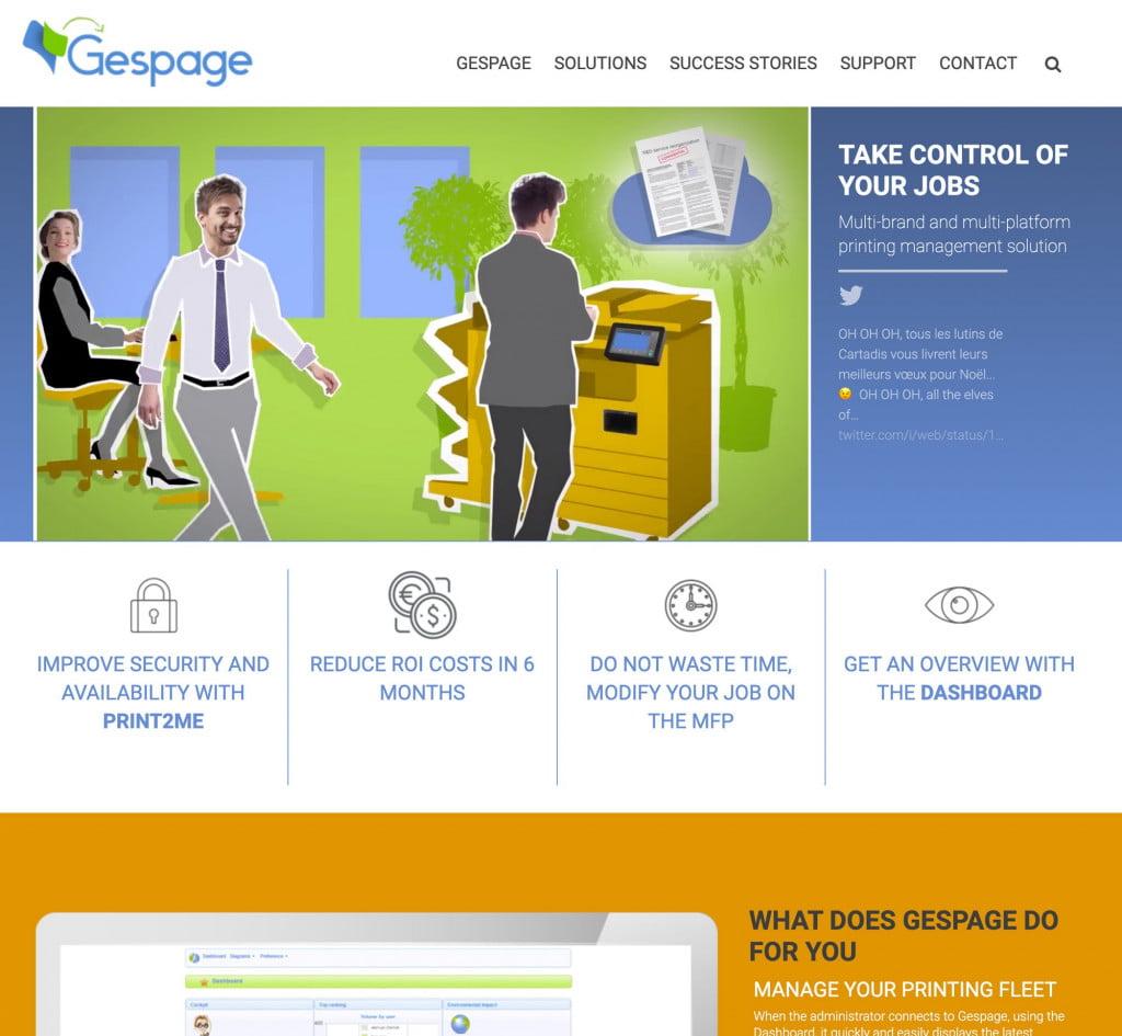 site Internet de logiciel - accueil