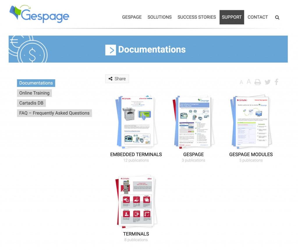 site Internet de logiciel - docs