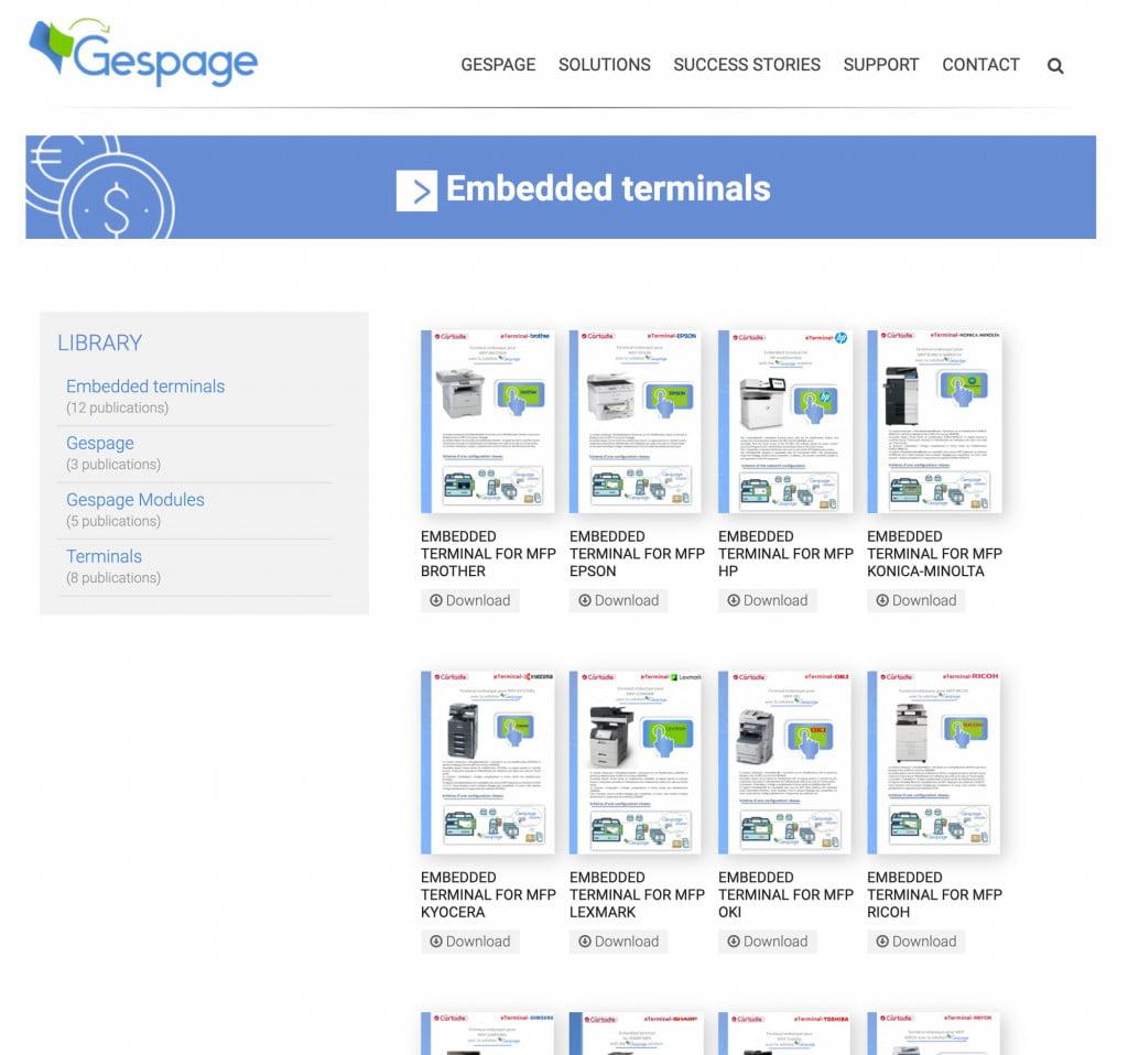 site Internet de logiciel - doc