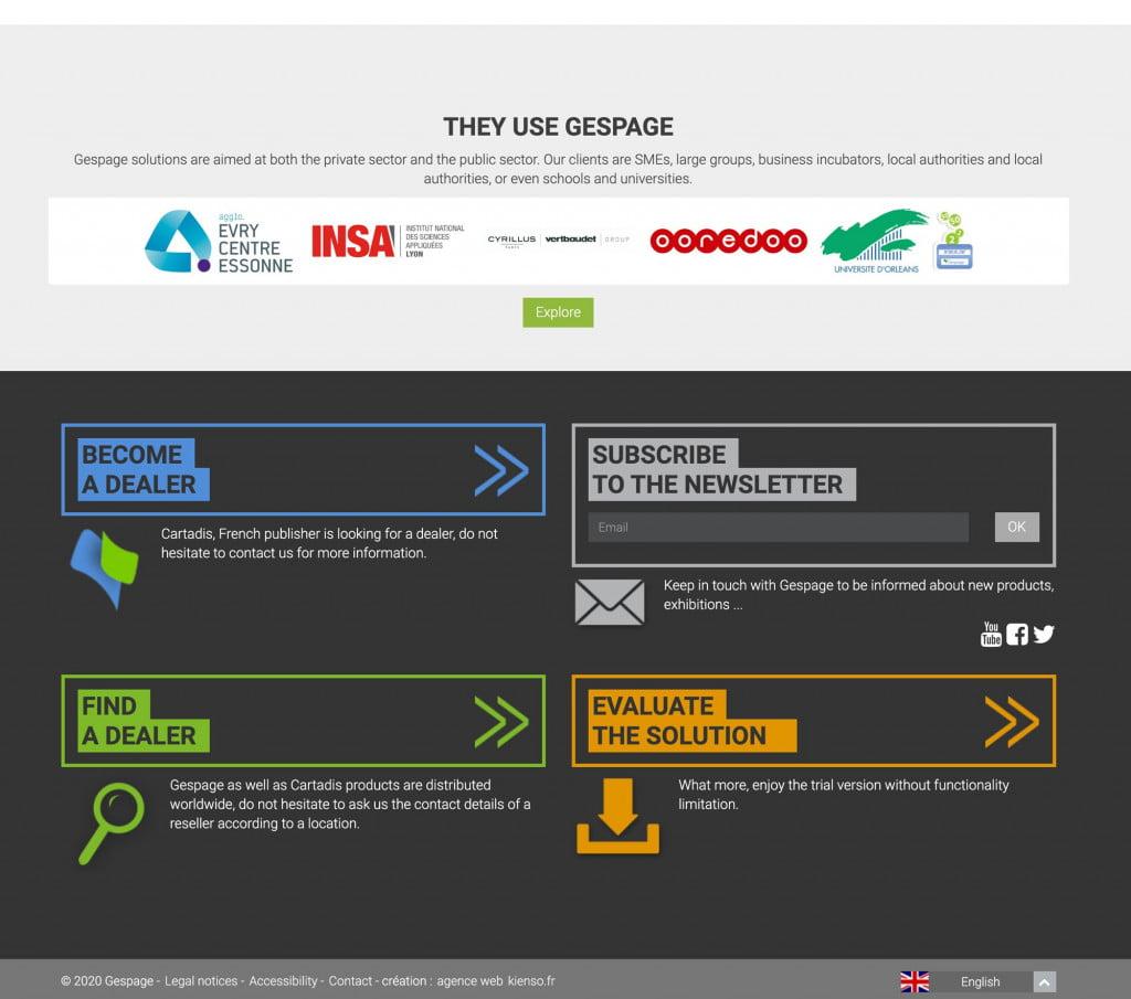site Internet de logiciel - footer