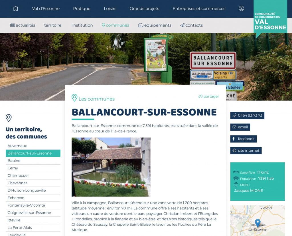 site internet de communauté de communes - ville
