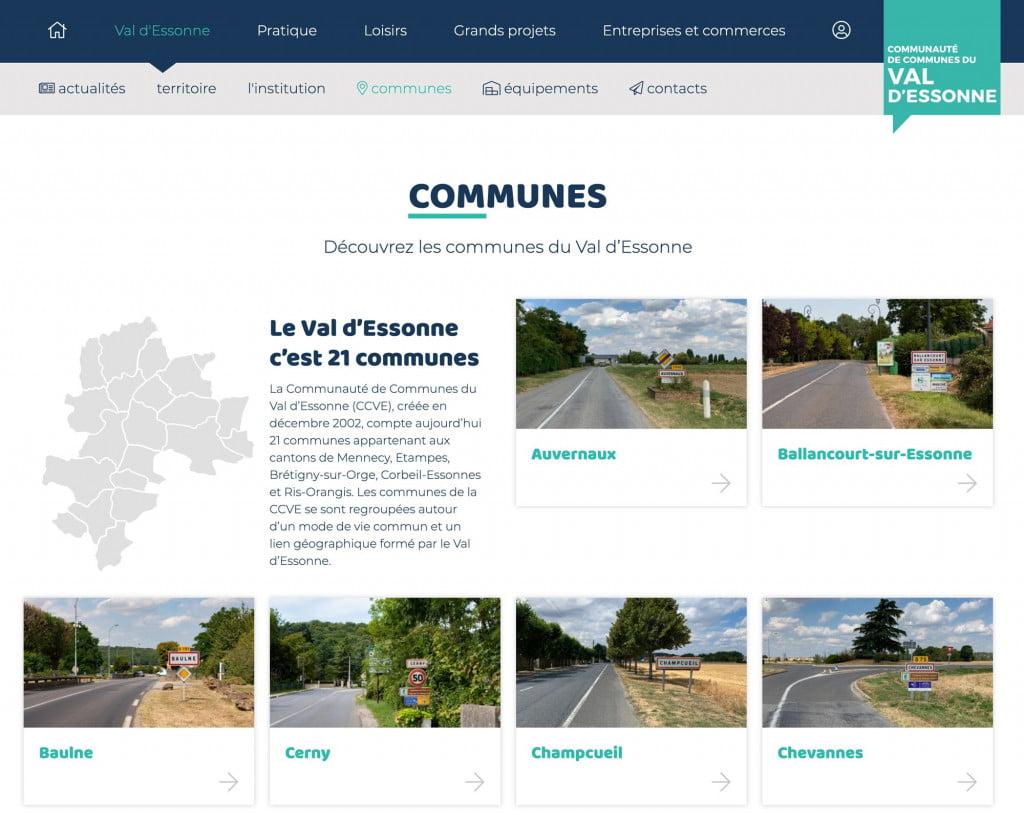 site internet de communauté de communes - communes